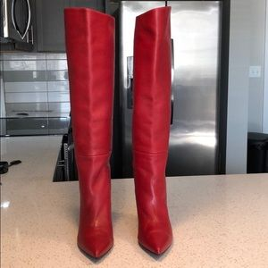 Stuart Weitzman Red Leather Boots